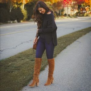 Brand new brown suede knee high boots